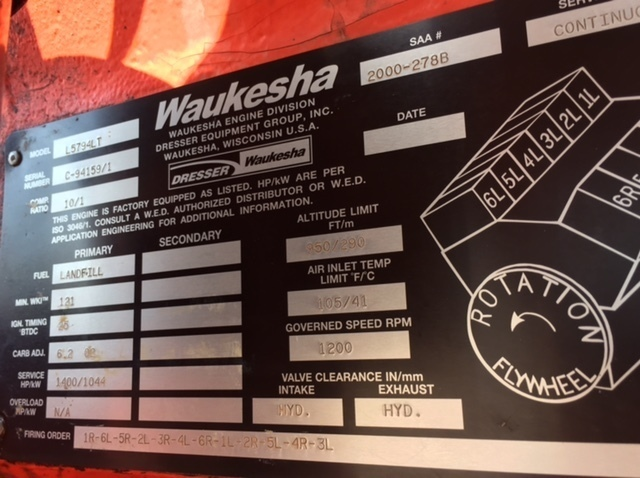 Waukesha L5794lt Gas Engine