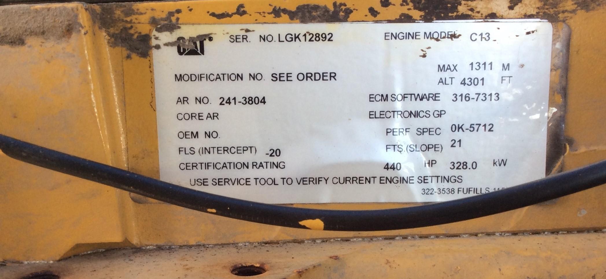 Used Caterpillar C13 Power Unit Diesel Engine