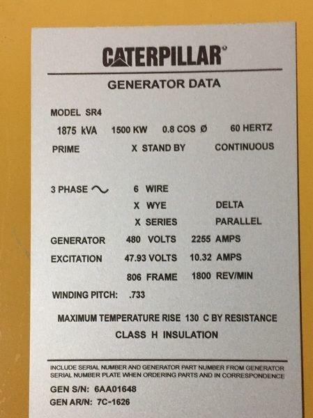 cat generator serial number lookup
