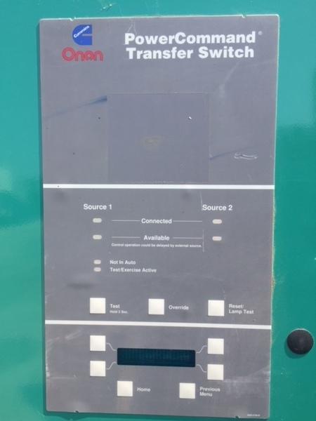 Cummins Onan Cummins 1000 Amp 208v Automatic Transfer Switch