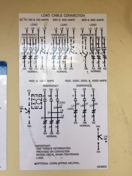 Kohler 400 Amp 480v Automatic Transfer Switch K40600